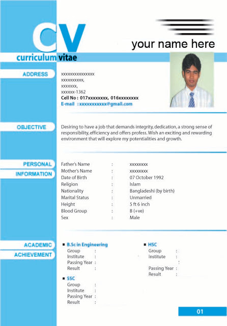 biodata resume format and template samples biodata model